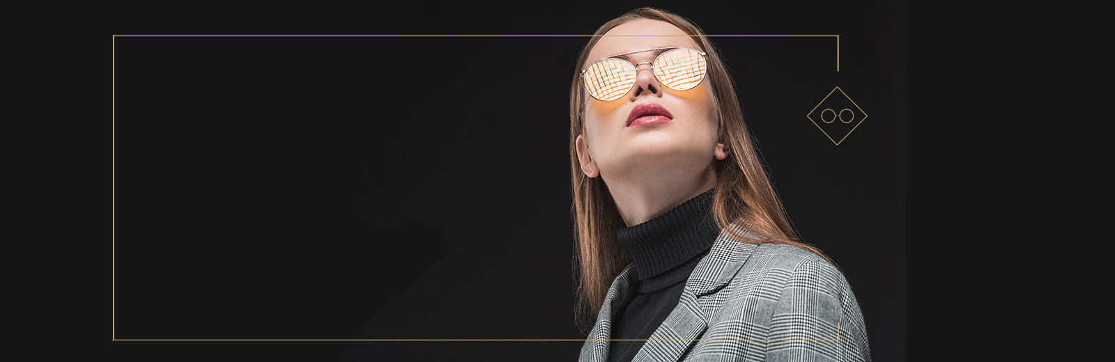Gold Mirrored Sunglasses